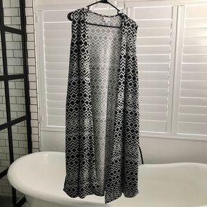 LuLaRoe Joy Vest Large EUC